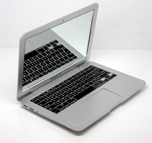 Macbook air compact mirror novelty Bootleg Clone Knockoffnerd.com