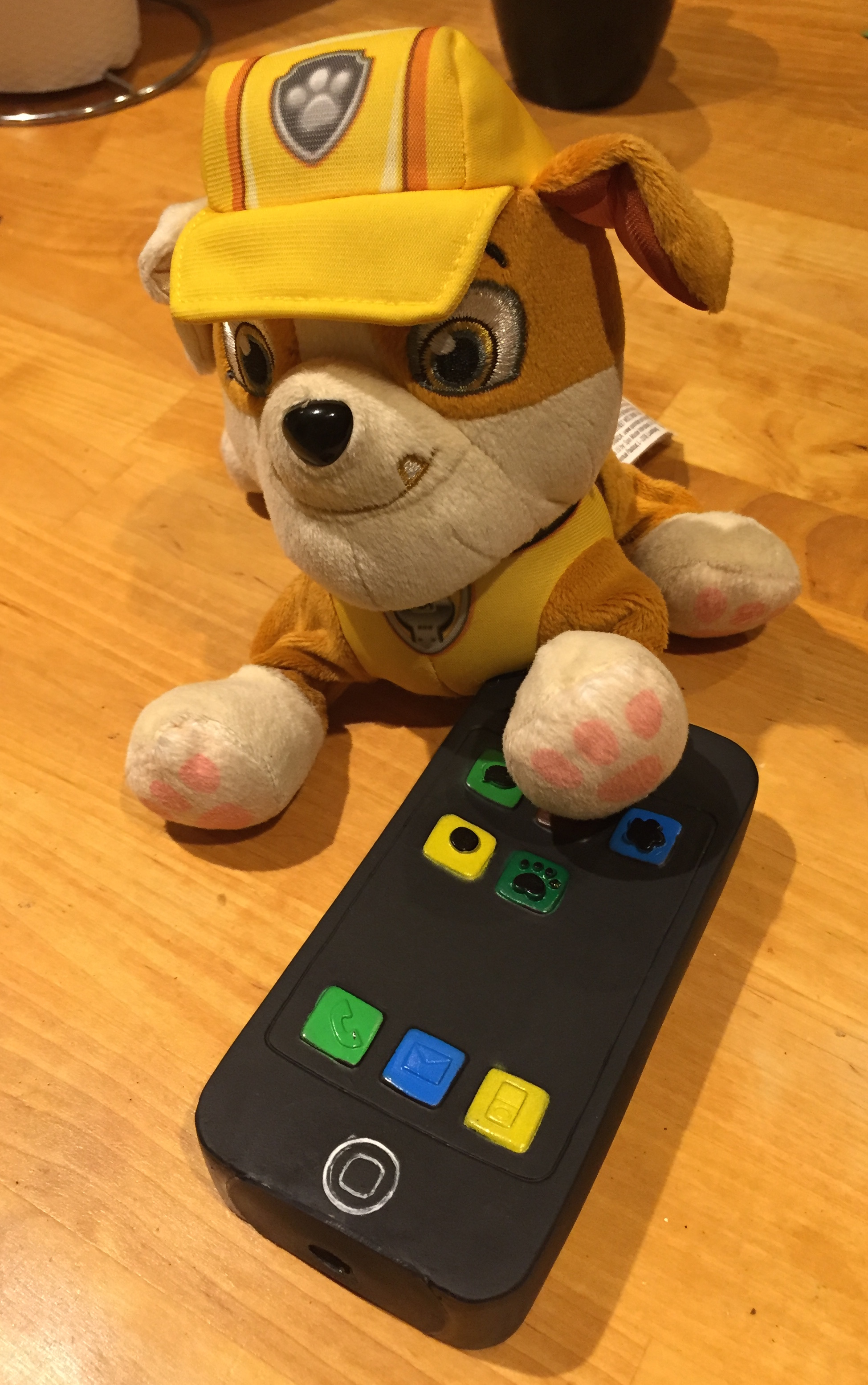 iPhone iBone Dog Squeaky Chew Toy Cheap Knock Off Bootleg Clone