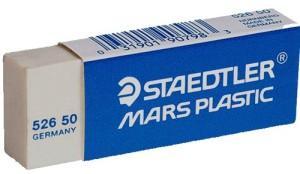 White Staedtler Mars Plastic eraser