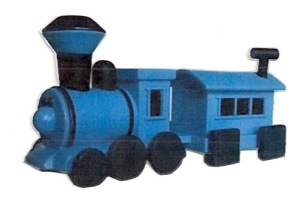 Land of Misfit Toys Train with square wheels