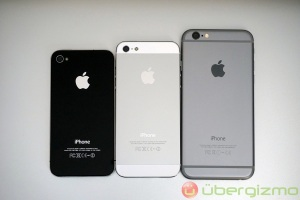 iPhone 4 iPhone 5 iPhone 6 size comparison